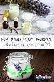 how to make natural homemade deodorant