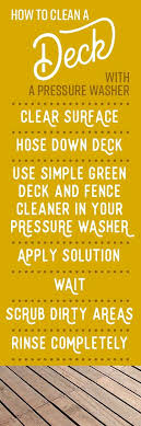 How To Clean A Deck Cleaning Deep Cleaning Schedule Deck