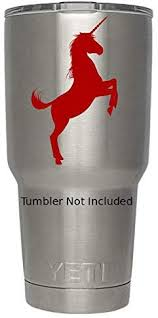 Amazon Com Unicorn Decals For Yeti Tumblers R We Don T Sell Tumblers Decal Stickers 3 4 H X 3 8 W Red Home Improvement