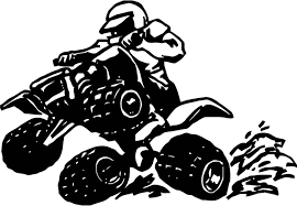 Atv Quad Bike Wall Decal Wall Art Sticker Black Outline Shown Atvquadbike In 2020 Decal Wall Art Sticker Art Vinyl Decals