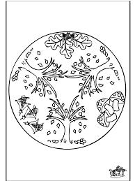 Herfst Mandala 1 Bloemenmandala S