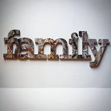 Family Wall Decor In Realtree Camo By Albonsboutique On Etsy Camo Home Decor Camo Decor Camo Living Rooms