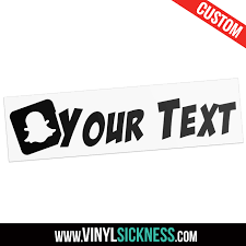 Custom Snapchat Username Stickers Decals