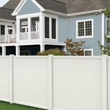 Veranda Somerset 6 Ft H X 6 Ft W White Vinyl Privacy Fence Panel 128009 The Home Depot