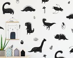 Dinosaur Wall Decal Etsy
