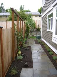 Seattle Home Side Pathway Backyard Fences Fence Landscaping Natural Fence