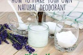 how to make natural homemade deodorant