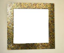 mirror with mosaic glass frame