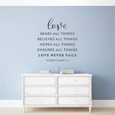 Love Never Fails Wall Art Decal