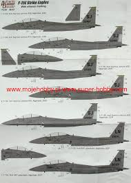 F 15e Strike Eagles With Mission Marking Authentic Decals 48 67