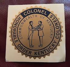Vintage Honorable Order Of Kentucky Colonel 4 Window Decal Colonels 1960 S 15 00 Picclick Uk