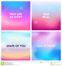 abstract vector pink blue blurred background set square blurred