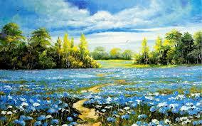 landscape oil painting field art