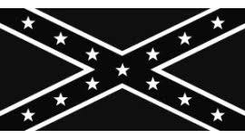 Confederate Battle Flag Black And White Bumper Sticker