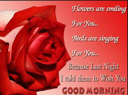 good morning quotes flowers are smiling for you birds are