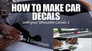 How To Make A Car Decal Silhouette Cameo 3 Youtube