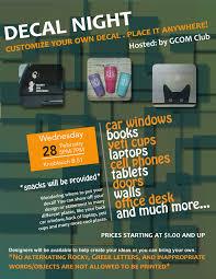 Gcom Club Hosting Decal Night Feb 28 Western Illinois University News Office Of University Relations