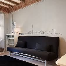 Berlin Skyline Wall Decal Cute Vinyl Sticker Home Arts Europe City Outline Wall Decals European Home Decor Home Decor Home