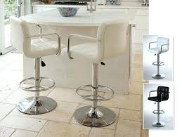 cream bar stools round glass pub table