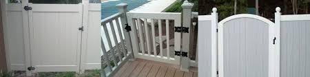Veranda Vinyl Fence Gate Brackets Montclair Construction Montclair Construction And Foundation Repair