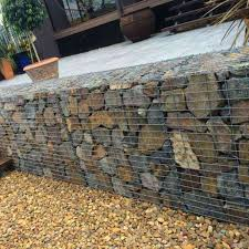 gabion basket wall bench wire