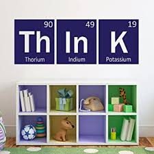 Think Wall Decal Periodic Table Decal Elements Vinyl Decal Science Decor For Living Room Kids Room Bedroom Navy Blue Xs Amazon Com