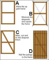 How To Build A Wooden Gate Buildeazy Building A Wooden Gate Wooden Gates Diy Gate