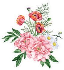 Poppy And Daisy Bouquet Flower Sticker