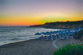 hd wallpaper beach sunset greece