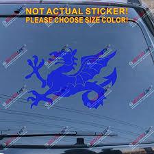 Amazon Com Anglo Saxon White Dragon Decal Sticker England English Car Vinyl Pick Size A Blue 8 20 3cm Arts Crafts Sewing