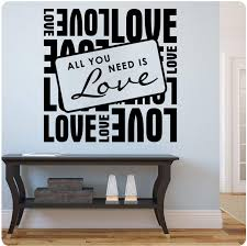 Amazon Com All You Need Is Love Beatles Wall Decal Sticker Art Home Decor Home Kitchen