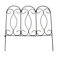 Vigoro 24 In H Black Wrought Iron Yorkshire Border Garden Fence 51511 The Home Depot Wrought Iron Fences Outdoor Furniture Makeover Iron Fence