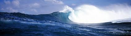 ocean wave dual screen wallpaper