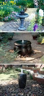 diy garden fountain landscaping ideas
