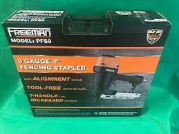Freeman Pfs9 Pneumatic Fencing Stapler 9 Gauge With T Handle Case And Belt Hook 816376013830 Ebay