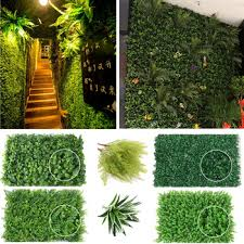 Super Promo Be51 Garden Artificial Hedge Panel Ivy Leaf Private Screen Plants Greenery Fence 40x60cm Party Wedding Decorations Wall Ornaments Cicig Co
