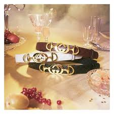 gucci leather belts embellished with