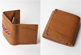 camel leather wallet by hobo