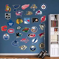 Nhl Logo Collection Wall Decal Shop Fathead For Nhl Decor Logo Wall Wall Decals Nhl Logos