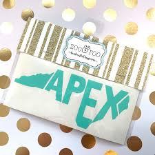 Apex Nc Vinyl Decal Zoo Roo