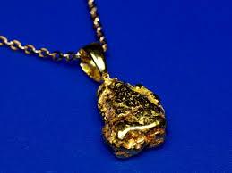 small alaskan gold nugget pendant raw
