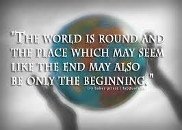 """Ivy Baker Priest """"The world is round"""" Quote"""