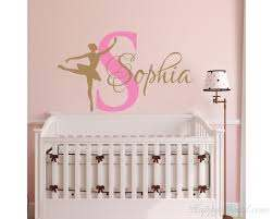 Ballerina Wall Decals Personalized Ballerina Name Decal