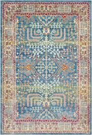 tillamook bright blue sky blue area rug