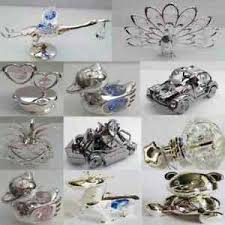 silver plated ornaments by crystal