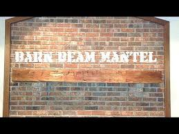 install a fireplace barn beam mantel