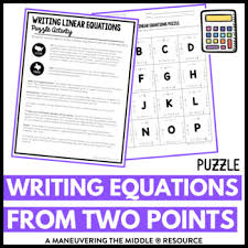 writing equations two points activity