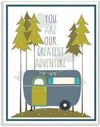 Amazon Com The Kids Room By Stupell You Are Our Greatest Adventure Art Wall Plaque Blue Green 11 X 0 5 X 15 Proudly Made In Usa Baby