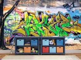 Real Graffiti Wallpaper Graffiti Wall Decal Graffiti Street Etsy