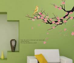 China Plum Blossom Tree Branch Bird Wall Sticker Tv Background Wall Decoration China Sticker And Wall Paper Price